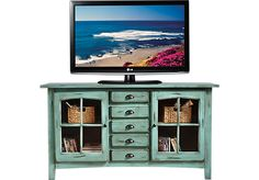 Shop for a Foxborough Turquoise Console at Rooms To Go. Find TV Consoles that will look great in your home and complement the rest of your furniture.