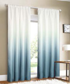 Blue ombré curtains