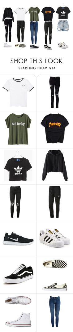 """""""2018 (my) school trends"""" by m-shadows04 ❤ liked on Polyvore featuring Vans, Miss Selfridge, Madewell, AMIRI, adidas, NIKE, adidas Originals, Converse, Topshop and school"""