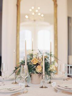 A romantic table: http://www.stylemepretty.com/little-black-book-blog/2014/12/08/blackberry-mint-winter-wedding-inspiration/ | Photography: Nancy Ray - http://nancyrayphotography.com/