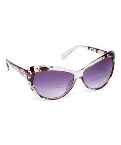 adf90592ab8 Loving this Fashion USA Black Abstract Cat-Eye Bifocal Readers on