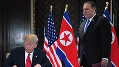 Secretary of State Mike Pompeo said Wednesday that North Korea still poses a nuclear threat, directly contradicting President Trump's claims from earlier this month.