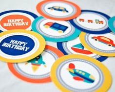 Transportation Birthday Party Package  Printable by PricklyPress