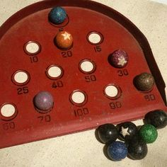 1920s marble game by Girard. #vintagetoys #girardtoycompany #marbles #1920s