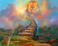 """~NEW~ """"The Spirit of Cecil"""" jimwarren.com """"Last month a lion named Cecil who was hunted and killed in Africa touched people around the world and set off a debate about animal rights and the importance of Wildlife preserves. This is my tribute to Cecil and the cubs he left behind.""""   THIS IS SUCH A MOST EMOTIONAL TRIBUTE TO OUR PRECIOUS CECIL IN AN ACRYLIC PAINTING! THANK YOU, JIM (Warren). :)"""