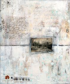Winter Song 1, mixed media painting on canvas © 2013 Laly Mille