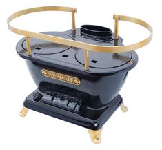 Shipmate stove is a real beauty and looks very practical for heat and cooking, more great boat stove links on this site