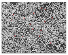Pin World and Pin City felt wall maps by Emanuele Pizzolorusso and Alessandro Maffioletti for Palomar competition on Dezeen. Paris Map, Paris City, Urban Setting, Paris Ville, Wall Maps, City Maps, City Lights, City Photo, World
