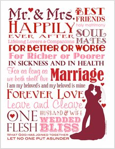 Happy Marriage, Love And Marriage, Marriage Blogs, Printable Art, Free Printables, Wedding Cards Handmade, Ways To Show Love, Wedding Art, Wedding Ideas