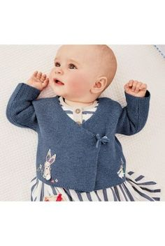 Buy Blue Embroidered Detail Wrap Cardigan (0mths-2yrs) online today at Next: United States of America