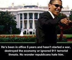 No wonder repugblicans hate President Obama