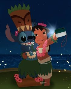 Stitch and Friend by toonbaboon on DeviantArt Lilo And Stitch Quotes, Lilo Y Stitch, Cute Stitch, Disney Phone Wallpaper, Cartoon Wallpaper Iphone, Cute Cartoon Wallpapers, Disney Drawings, Cute Drawings, Disney And Dreamworks