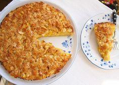 NOTBURGA KONYHÁJA, avagy mi kerül a fazékba és más zöldségek: Vaníliapudingos almás sütemény, mézes mandula tetővel/Apfelkuchen mit Vanillepudding und Mandeldecke