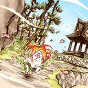 イッスンは撮影係 両島原 沙月ゆうのイラスト イラスト 着色 筆ペン