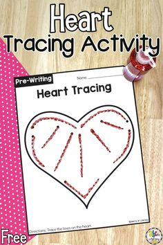 These free printable Heart Tracing Worksheets are a simple way for preschoolers to work on writing strokes and pre-writing skills.