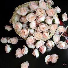 100Pcs Light Pink Rose Heads Artificial Silk Flower Party Wedding Home Decor DIY