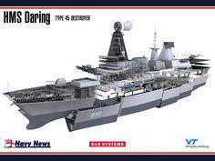 HMS Daring, Royal Navy Type 45 Destroyer.