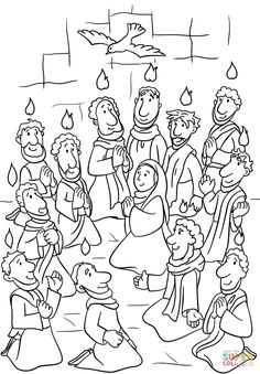 Pentecost - several coloring pages - great ideas | Hobbies ...