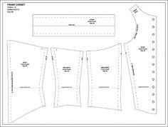 Sweet T Corset Pattern - Why not make it backwards and wear it like a vest?