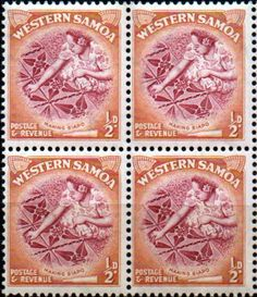 Samoa 1952 SG 219 Making Siapo Fine Mint Block of 4 SG 219 Scott 203 Condition Fine MNH Block of 4 Only one post charge applied on multipule