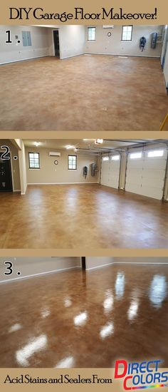 How to: Acid Staining Garage Floors Make Acid Staining Garage Floors and Garage Conversions a Snap with Direct Colors How-to Info, Technical Advice and Quality Concrete Products.