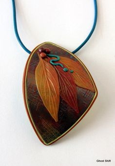 Another Autumn Leaf Pendant by Ghost Shift, via Flickr
