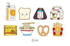 Yum by Xiha More food-themed and other illustrations on her Flickr account.