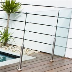 1200 x 1200mm Glass Pool Fencing Panel - Bunnings Warehouse