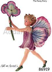 PANSY - Flower Fairy Figurine - Cicely Mary Barker Ornaments