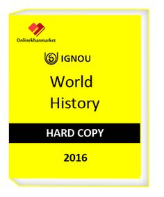 Get Ignou World history