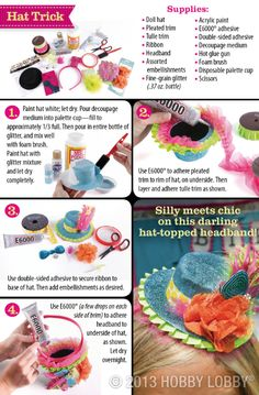 Make your own fascinator/party hat with this oh-so-cute DIY project.