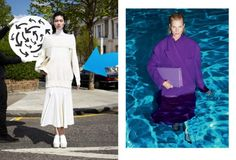 Stella McCartney chooses to display some over-sized coats in some water.