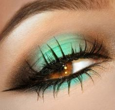 A great light aqua eye with sparkling brown corners.