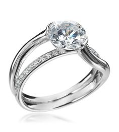 Mark Patterson - Promise Collection Platinum Pave Diamond Setting