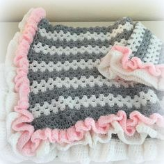 Crochet Baby Blanket Granny Ruffle | Craftsy