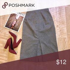 "Vintage Wool Skirt❤️ Beautiful vintage wool skirt.  High waist  Size 5/6 but fits more like a 2/4  Waist: 12"" Hips: 16"" Length: 28.5"" Skirts Midi"