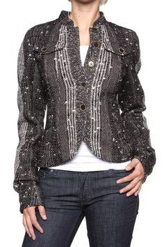 John Galliano Jacket , Color: Black, Size: 38