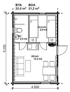 Bildresultat för planlösning attefallshus