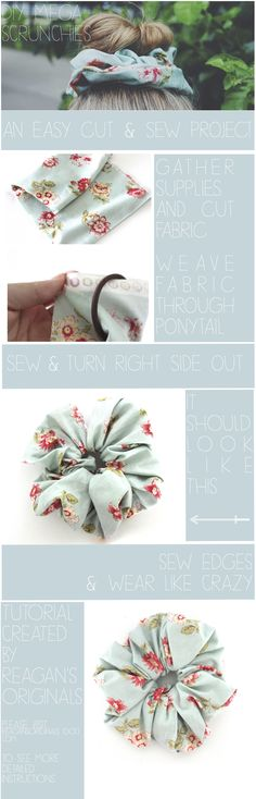 "DIY Scrunchies. ""I have made scrunchies before.  But these really aren't the same.  you'll just have to trust me."""