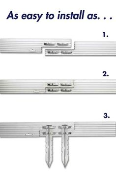 """installation tips for aluminum edging. includes tip to cut """"v""""-notch for installing on a grade."""