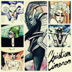 "Collage of the ""Born This Way"" series I created. Watercolor illustrations of Gaga created by Christian Cimoroni."