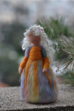 Needle felted  Waldorf-Summer Maiden-Soft sculpture-standing doll--needle felt by Daria LvovskyMade to custom orders. $38.00, via Etsy.
