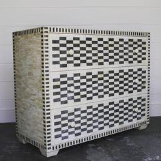 Bone-inlaid chest of drawers