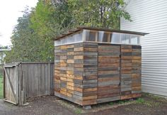 DIY small space storage shed