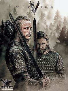Vikings series Ragnar et Rollo Ragnar Lothbrok Vikings, Vikings Rollo, Rollo Lothbrok, Vikings Tv Show, Vikings Tv Series, Viking Warrior, Viking Age, Viking Shop, History Channel