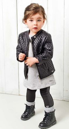 Toddler Style - Moto boots and jacket