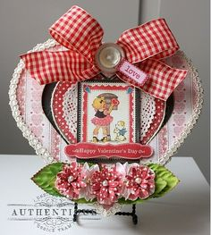 AUTHENTIQUE PAPER: Box of Lovely...Altered Heart Box with the Lovely Collection by Shellye McDaniel