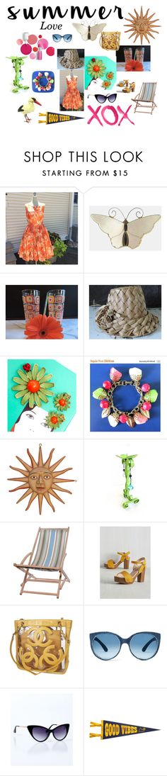 """Summer Love"" by ravishedheart ❤ liked on Polyvore featuring GALA, Clinique, Garden Trading, Chanel, Dot & Bo and vintage"