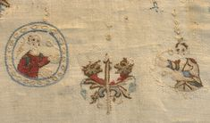 Embroidery on Balthilde's marriage garment.