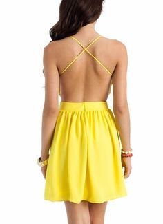 flowy open-back dress